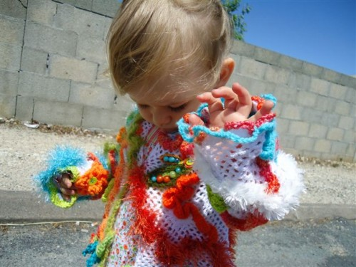 pas-de-nuages-sur-la-lune, plage, mac do, crochet, gilet, perles, orange, clover